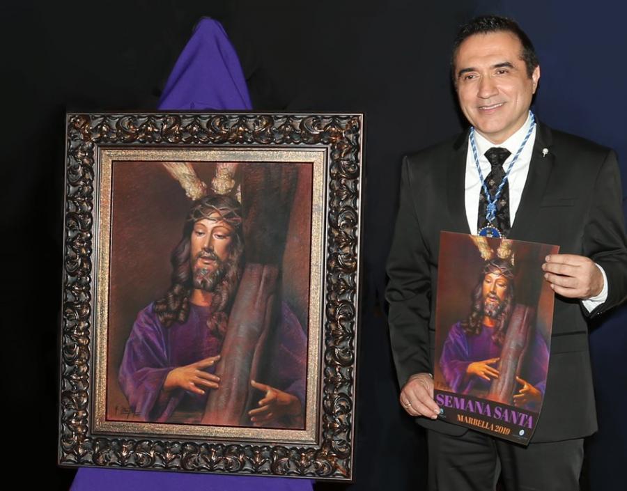 Cultura Cultura Antonio Montiel triunfa con su cartel de la Semana Santa de Marbella 2019