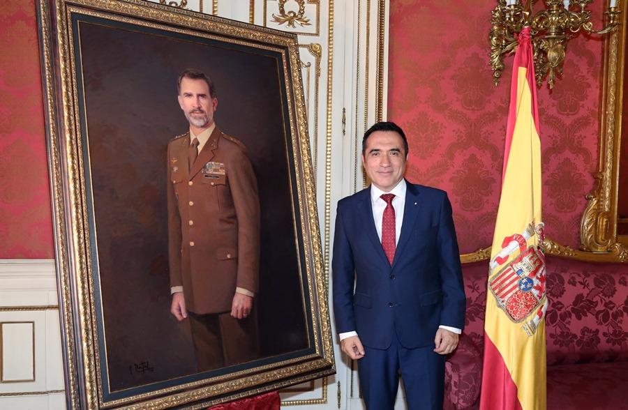 Cultura Cultura Presentación del retrato de Felipe VI por el pintor Antonio Montiel para el Ejército de Tierra
