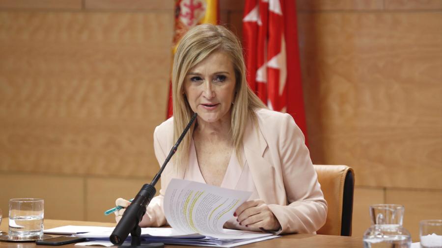 """Actualidad Actualidad Cristina Cifuentes: """"Si tengo un solo miembro de mi gobierno investigado por corrupción le ceso inmediatamente"""""""