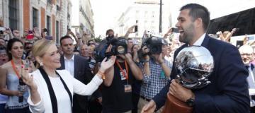 Deportes Deportes El Real Madrid festeja el título liguero en la Comunidad y la Puerta del Sol