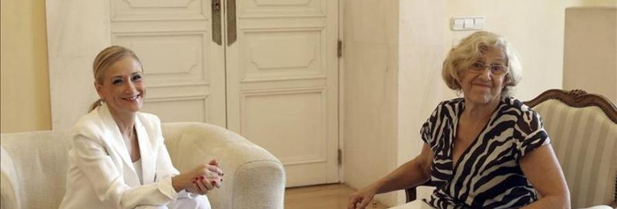 Actualidad Actualidad Rajoy, Cifuentes y Carmena, de acuerdo en luchar por traer la City de Londres a Madrid