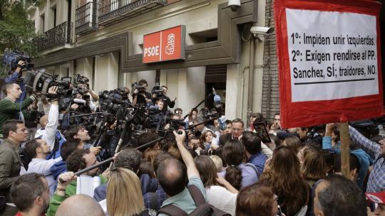 Actualidad Actualidad El autobús del PSC, el apoyo de Madrid en la calle... Ferraz encara un sábado histórico