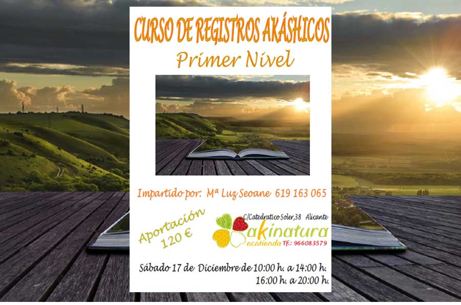 Actualidad Actualidad Curso de Registros Akásicos Primer Nivel impartido por María Luz Seoane en diciembre en Alicante