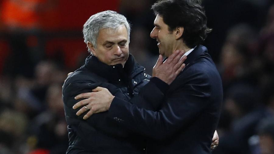Deportes Deportes Mourinho le roba la victoria a su amigo Karanka en los cinco últimos minutos.