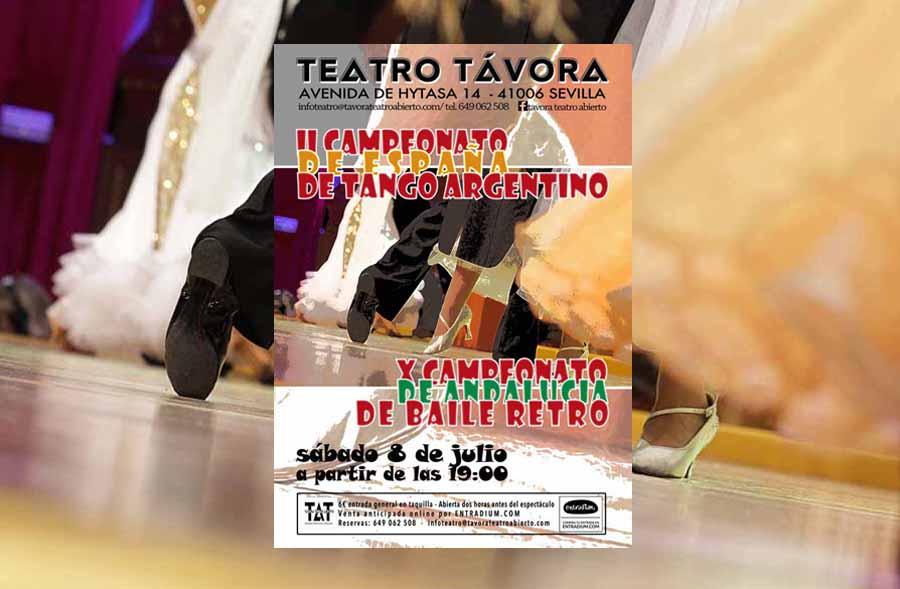 Cultura Cultura El X Campeonato de Andalucía de Baile Retro y el II de España de Tango Argentino se celebrarán en la ciudad de Sevilla