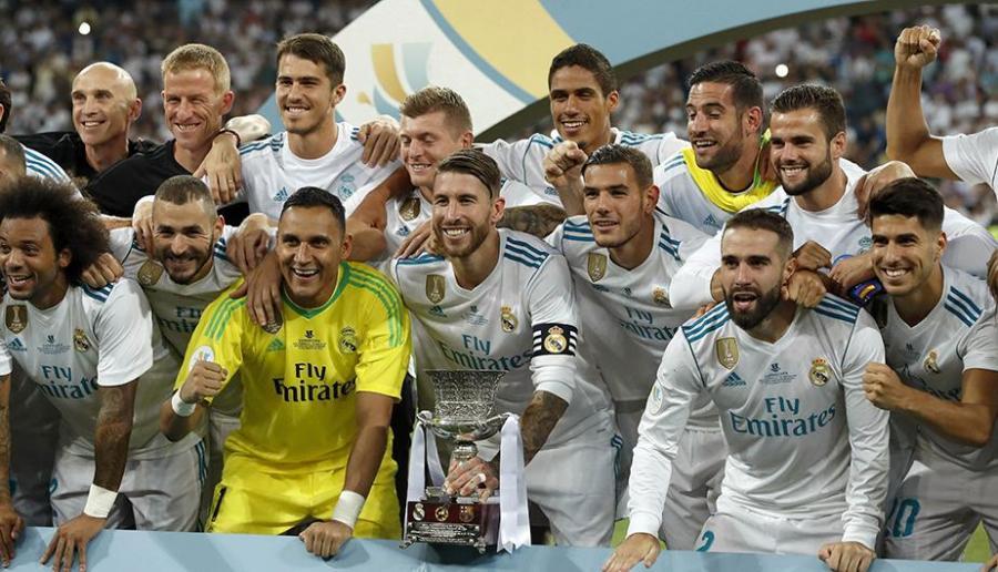 Deportes Deportes La celebración del Real Madrid del título de la Supercopa de España